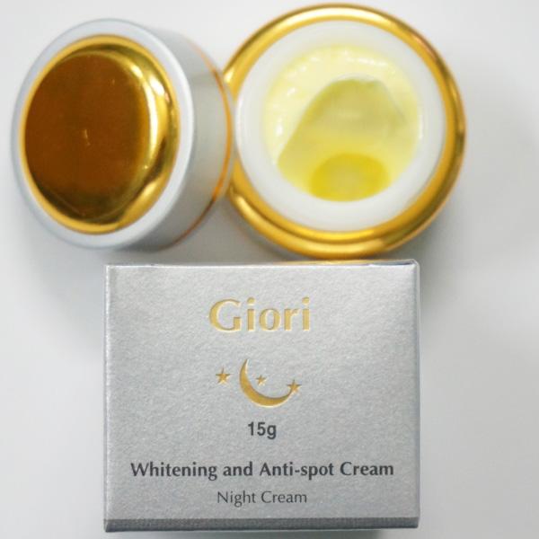 Giori night cream, kem duong da chong lao hoa ban đêm hiệu quả trong 2 tuần