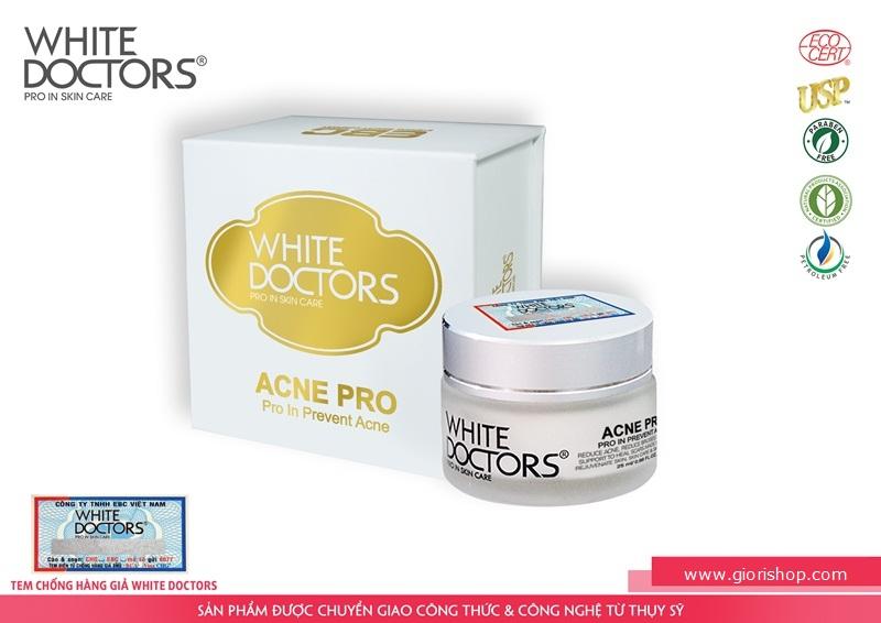Kem trị mụn thâm sẹo trắng da White Doctors ACNE PRO