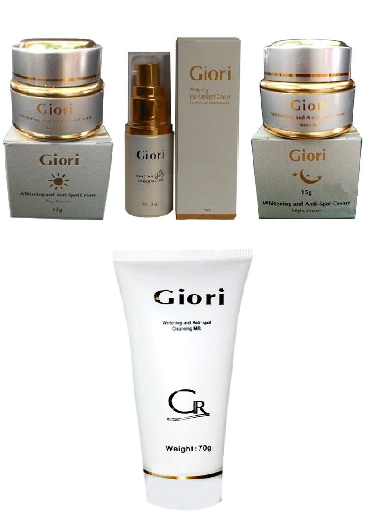 Bộ kem trị nám, dưỡng trắng da Giori (bộ 3 Giori & Sữa rửa mặt)