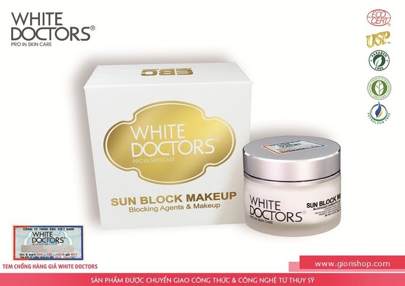 SUN BLOCK MAKEUP White Doctors chống nắng trang điểm