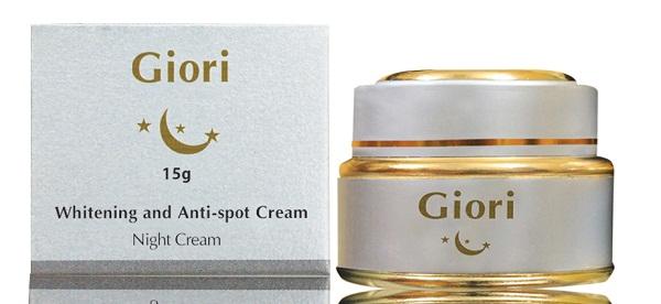 Kem dưỡng trắng da chống lão hóa ban đêm Giori giúp làn da đẹp từ bên trong