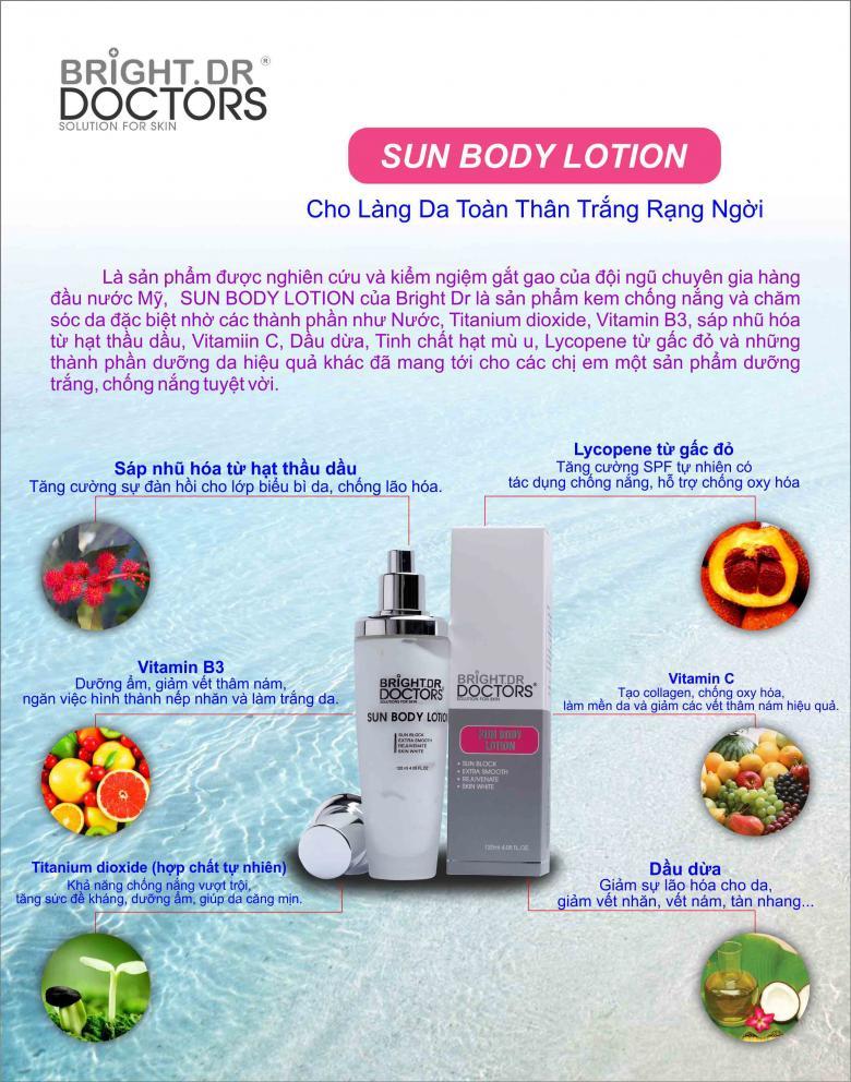 Kem dưỡng da toàn thân chống nắng Bright Doctors