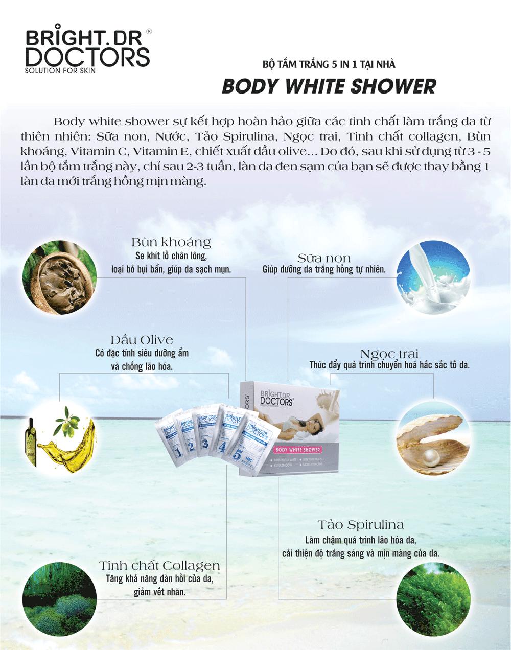 Kem tắm trắng Bright Doctors 5 trong 1