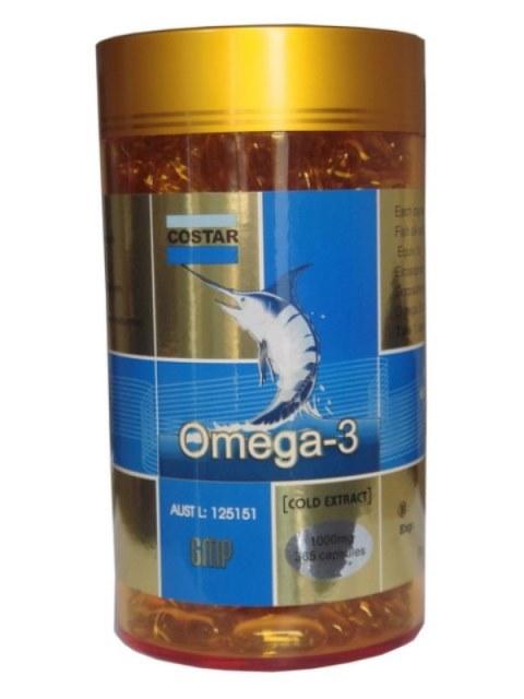 Viên uống Dầu cá Omega 3 Costar 1000mg của Úc 350 viên